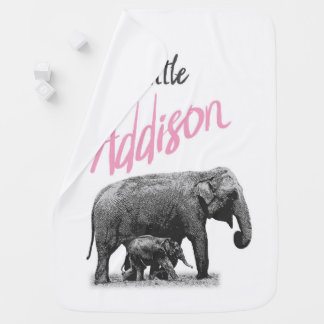 "Personalized Baby Girl Blanket ""Little Addison"""