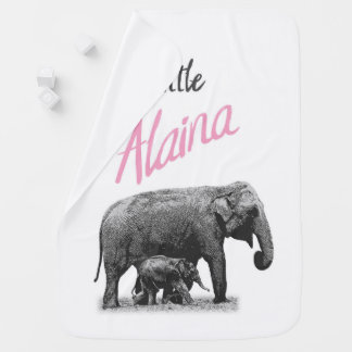 "Personalized Baby Girl Blanket ""Little Alaina"""