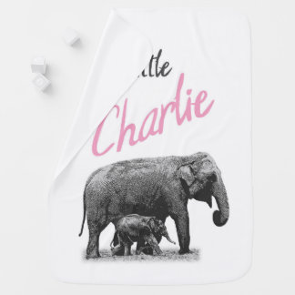 """Personalized Baby Girl Blanket """"Little Charlie"""""""
