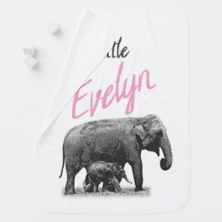 """Personalized Baby Girl Blanket """"Little Evelyn"""""""