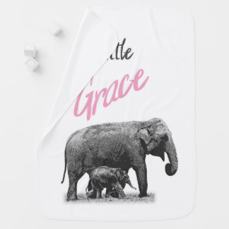 "Personalized Baby Girl Blanket ""Little Grace"""