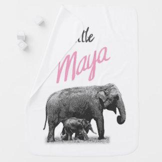 """Personalized Baby Girl Blanket """"Little Maya"""""""