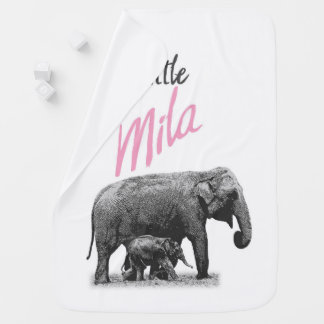 "Personalized Baby Girl Blanket ""Little Mila"""