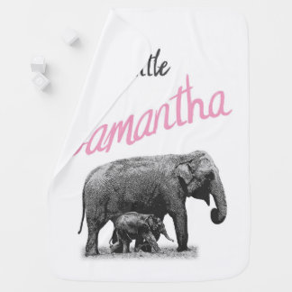"""Personalized Baby Girl Blanket """"Little Samantha"""""""