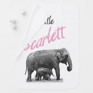 "Personalized Baby Girl Blanket ""Little Scarlett"""