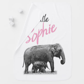 """Personalized Baby Girl Blanket """"Little Sophie"""""""