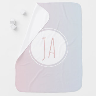 Personalized Baby Girl Unicorn Monogram Ombre Baby Blanket