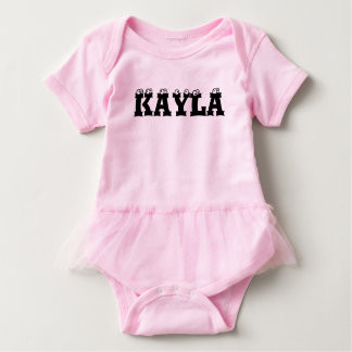 PERSONALIZED BABY GIRLS TUTU BABY BODYSUIT