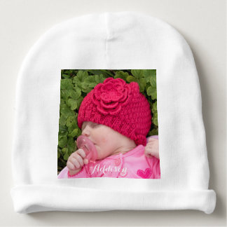 Personalized Baby Hat Infant Beanie Add Photo Baby Beanie