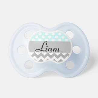 Personalized baby name pacifier in blue