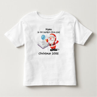 Personalized Baby or Toddler Christmas Toddler T-Shirt