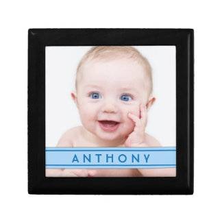 Personalized Baby Photo Name Jewelry Box - Boy