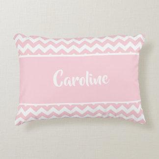 Personalized Baby Pillow - Pastel Blush Pink White