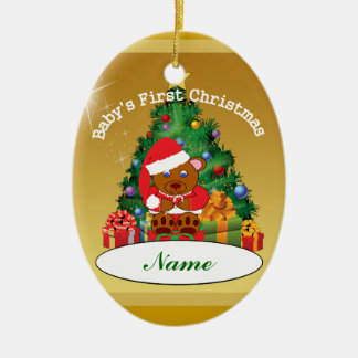 Personalized Baby s First Christmas Tree Ornament