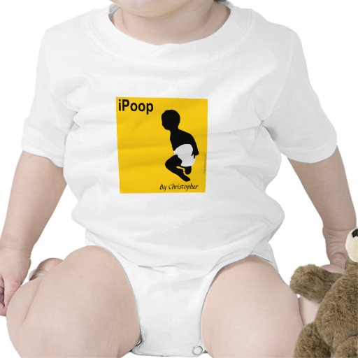 Personalized Baby Shirt, iPoop By Christopher