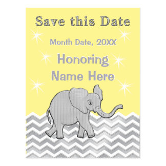 Personalized Baby Shower Save the Date Postcard