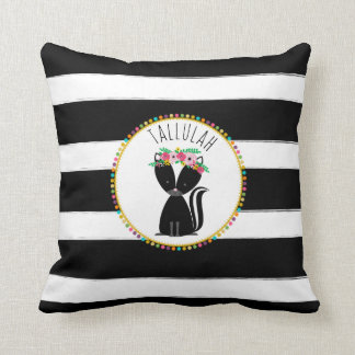 Personalized Baby Skunk Stripe Pillow