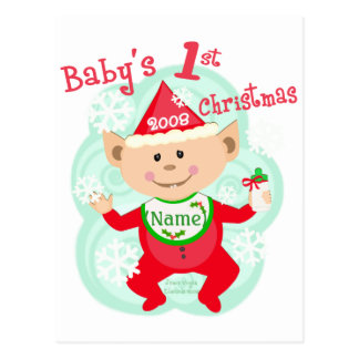 Personalized Baby's First Christmas Post Card