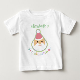 Personalized Baby's First Christmas T-shirt