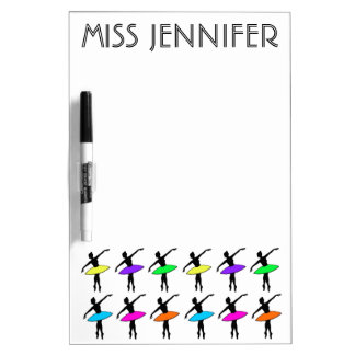 Personalized Ballerina Ballet Dance Teacher Gift Dry Erase Board