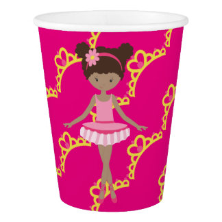 Personalized Ballerina Princess Paper Cup