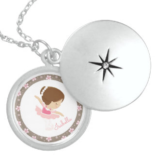 Personalized Ballerina Sterling Silver Necklace