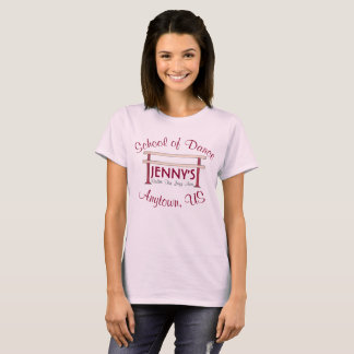 Personalized Ballet Barre Dance School Studio T-Shirt