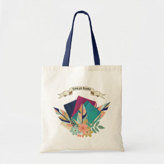 Personalized Banner Boho Book Bouquet Tote Bag
