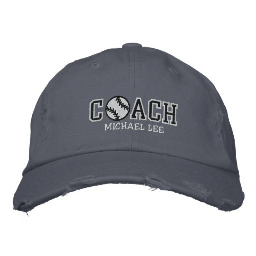 Personalized Baseball Coach Embroidered Hat