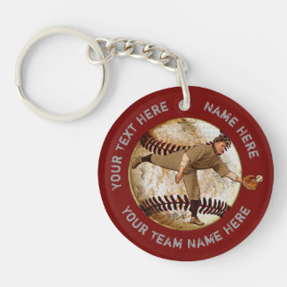 Personalized Baseball Gifts for Players, Coaches Key Ring