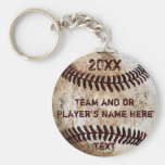 PERSONALIZED Baseball Gifts for Players, Seniors Basic Round Button Key Ring