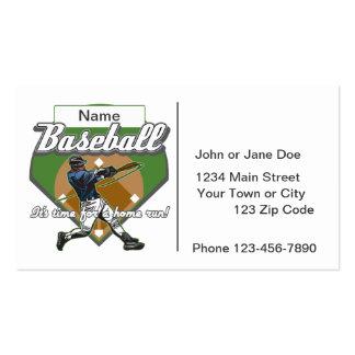 Personalized Baseball Home Run Business Card