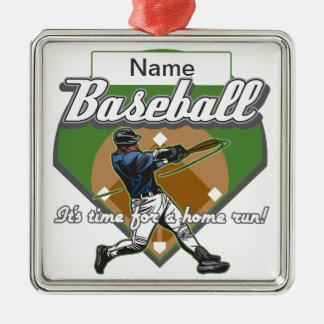 Personalized Baseball Home Run Ornament