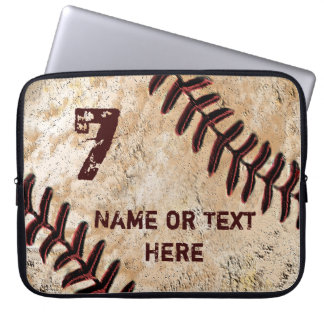 Personalized Baseball Laptop Case, NAME and NUMBER Laptop Sleeve