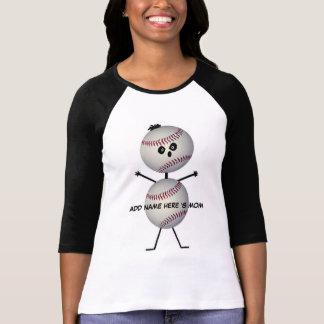 Personalized Baseball Mom Cartoon T-shirts