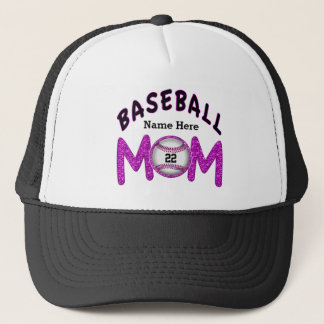 Personalized Baseball Mom Hats NUMBER and NAME