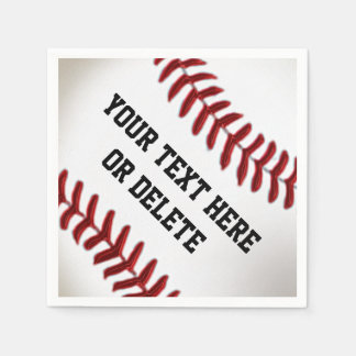 Personalized Baseball Napkins with YOUR TEXT Disposable Napkin