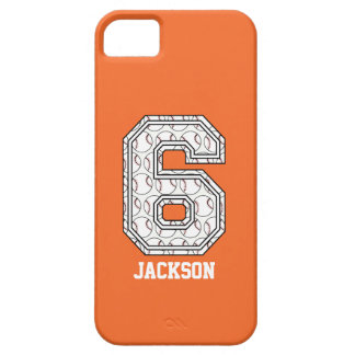 Personalized Baseball Number 6 Case For The iPhone 5
