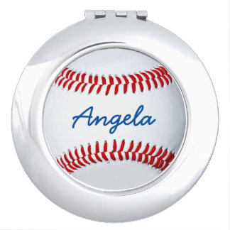 Personalized Baseball Photo Compact Mirror