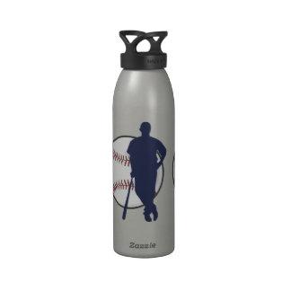 Personalized Baseball Player Drinking Bottle