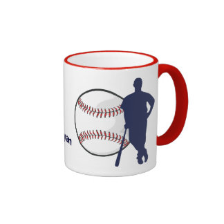 Personalized Baseball Player Mugs