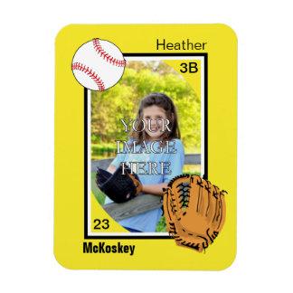 Personalized Baseball/Softball Magnet