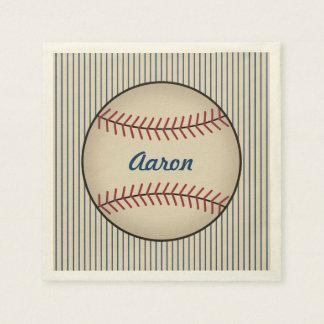 Personalized Baseball Sports Party Napkins Paper Napkin