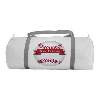 Personalized Baseball Team Banner Duffle Bag