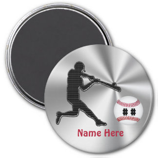 Personalized Baseball Team Gift Ideas for Kids 7.5 Cm Round Magnet