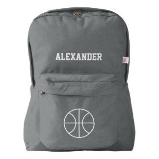 Personalized basketbal sports backpack   Gray