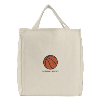 Personalized Basketball  Ball embroidered Bag