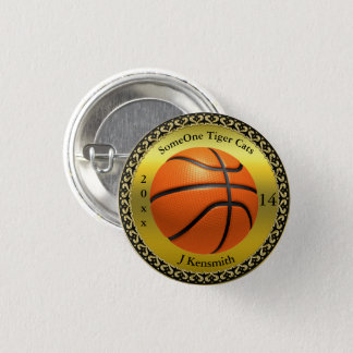 Personalized Basketball Champions League design 3 Cm Round Badge