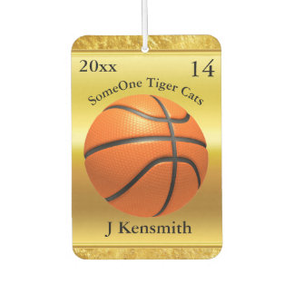 Personalized Basketball Champions League design Car Air Freshener