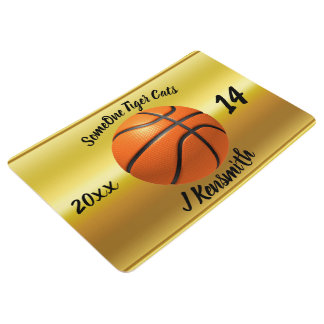 Personalized Basketball Champions League design Floor Mat